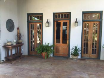 French Doors from Courtyard