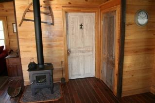 Fireplace / Bathroom Entrance